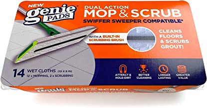 Grout Cleaning Wet Mopping Pad Refills Swiffer Sweeper Compatible Floor Wipes Includes Two Pad Cloths with Built-in Grout ...