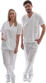 Uniforme Sanitario Unisex Ropa Trabajo Pijama Medico Casaca Enfermero Estetica Peluqueria Veterinaria Hospital Limpieza y ...