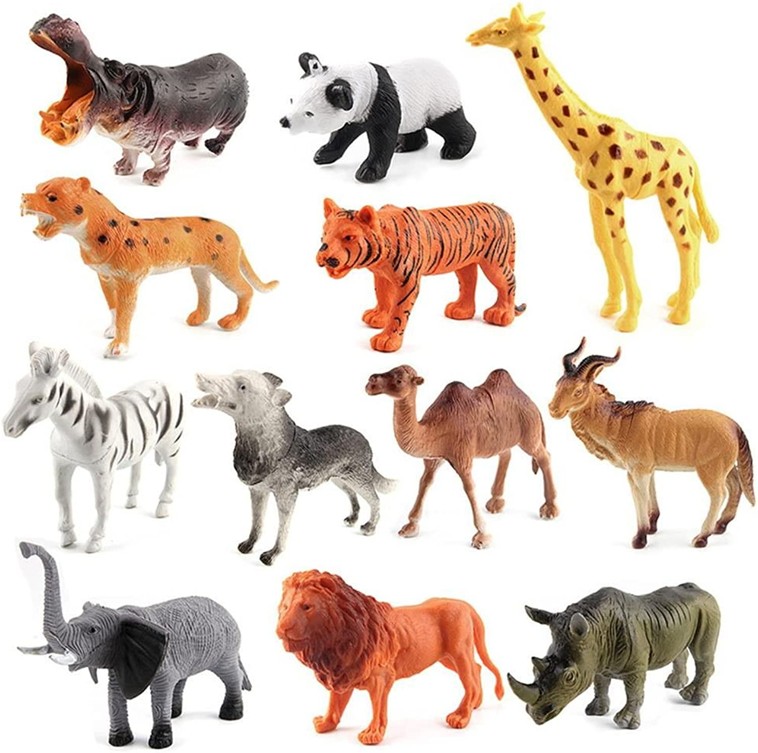 Mbros.KRJW Dinosaur Figures   Ocean Sea Animal   Insect Toys Set Realistic Learning Party Favors for Boys Girls Kids Toddlers (12pack Wild Animals)