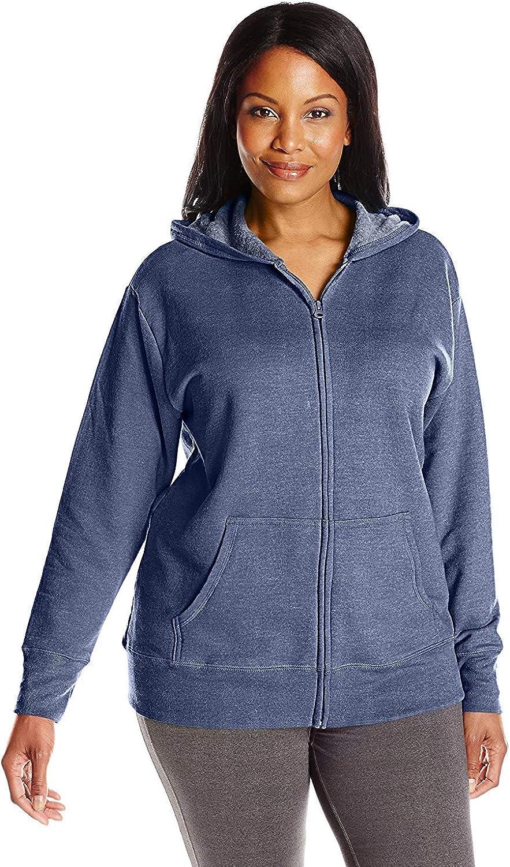 JUST MY SIZE Women's Fleece Full-Zip Hoodie