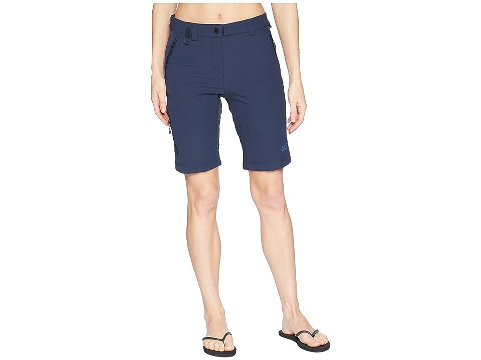 Jack Wolfskin Activate Track Shorts (Midnight Blue) Women