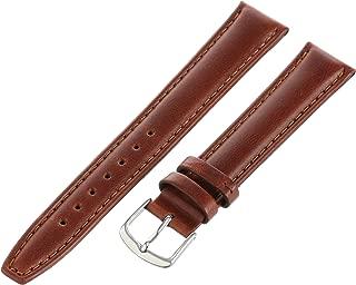 Hadley-Roma Men's MSM881XA-160 16-mm Black Oil-Tan Leather Watch Strap