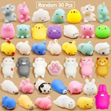 Calans Mochi Squishy Toys, 30 Pcs Mini Squishy Party Favors for kids Animal Squishies Stress Relief Toys Cat Panda Unicorn...