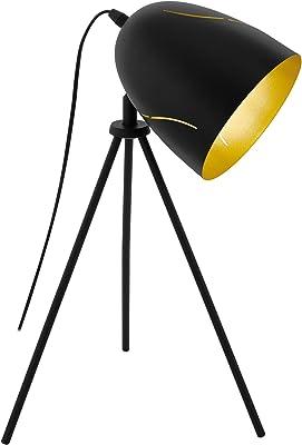 Eglo 43007 Lampe de Table, Noir/Doré