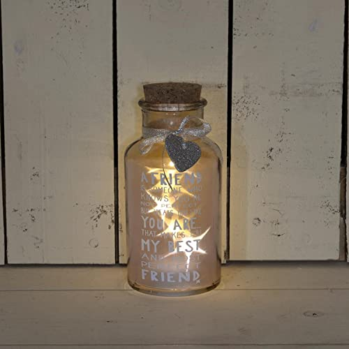 Perfect Friend Light Up Jar Messages Of Love Gift Range Birthday Christmas Gifts
