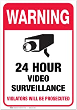 """(2 Pack) Video Surveillance Vinyl Sign Sticker - 7x10"""" Sticker Self-Adhesive Decal Poster - Weatherproof, by ARMO"""