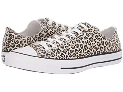 Converse Chuck Taylor All Star Ox Leopard Print (Cheetah/Black/Driftwood) Skate Shoes