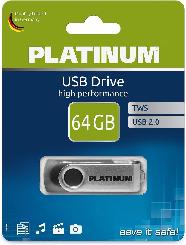Platinum Tws Usb Stick 64 Gb Usb 2 0 Usb Flash Laufwerk Computer Zubehör