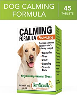 Terry Naturally Animal Health Calming Formula - 119 mg Echinacea Angustifolia, 45 Tablets - Promotes Calm & Relaxation for Dogs - Non-GMO, for Canines Only - 45 Servings