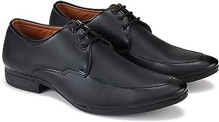 Bersache Formal Shoes, Slip On Office Shoe, Shoe, Party Shoe, Shoe, Lace Up Shoe, Derby Shoe, Look Leather Shoe, Light Weight Comfortable Shoe for Men's/Boy's (Black-3024)