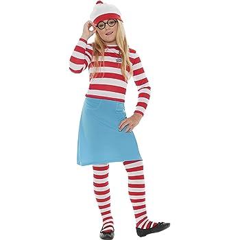 Disfraz de Donde está Wally para niña, talla 10-12 años: Smiffys ...