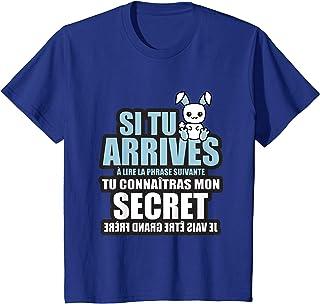 Enfant tu connaîtras mon secret je vais être grand frère T-Shirt