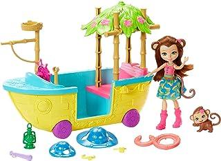 Enchantimals - Barco de la Selva Mágica con Muñeca Merit Monkey (Mattel GFN58) , color/modelo surtido