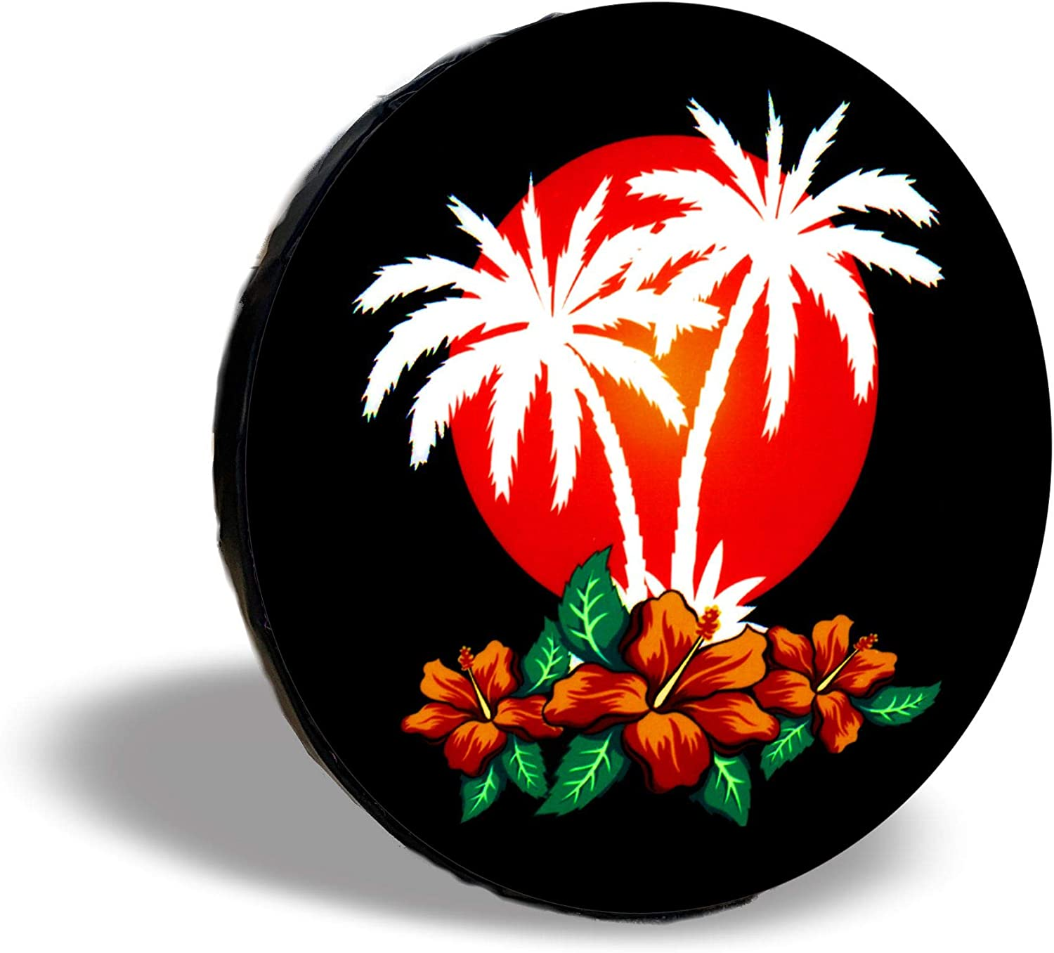 TIRE COVER CENTRAL Aloha Purple Spare Sunset Cover Max 74% OFF TIre Direct sale of manufacturer Hibiscus