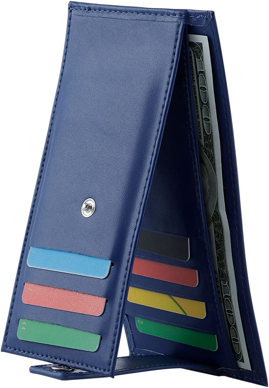 Women' s Wallet Multi Card Case Wallet Slim Credit Card Holder with 10 Card Holder and Money Pocket