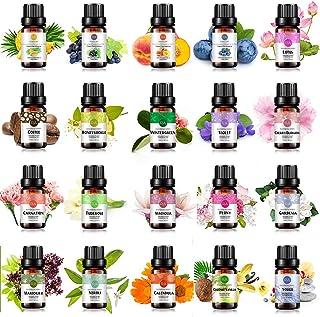 20-Pack 100% Pure Essential Oil Set(Blueberry,Neroli,Coffee,Lotus,Peach,Cherry Blossom,Calendula,Marjoram,G...