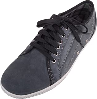 ABSOLUTE FOOTWEAR Mens Genuine Leather Summer/Holiday Casual Lace Up Shoes/Trainers