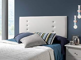 marckonfort Cabecero tapizado Ibiza Blanco 160X55