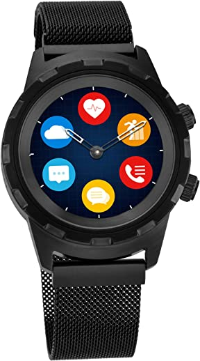 Titan Connected X Hybrid Smartwatch for Men with Heart Rate Monitor + Full touch Display + Interchangeable strap
