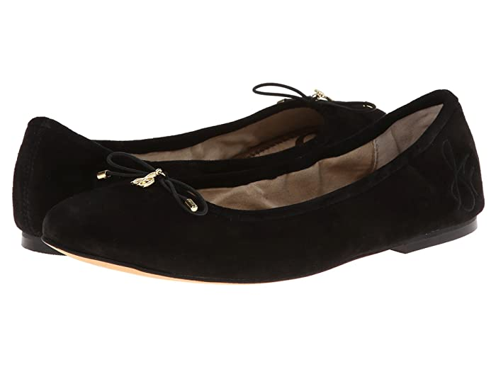 Sam Edelman  Felicia (Black Suede) Womens Flat Shoes