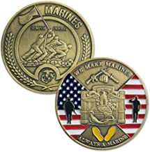 United States Marine Corps Challenge Coin Semper Fidelis MCRD Parris Island Military Gift