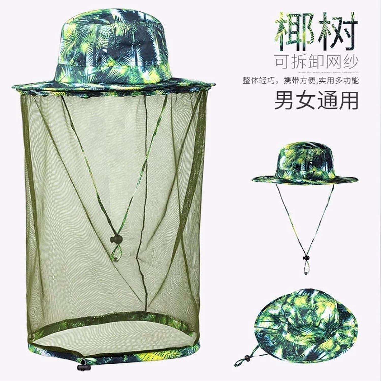 Dingkun Summer outdoor folding anti UV helmet Veil hat Hat