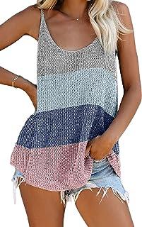 Yidarton Women's Knit Tank Tops Summer Tanks Loose Sleeveless Tops Camis Casual Sleeveless Shirts Blouses
