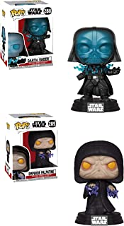 Funko Pop! Star Wars Return of The Jedi Sith Lord Bundle with Electrocuted Darth Vader #288 and Electric Emperor Palpatine #289 Vinyl Figures (2 Items)