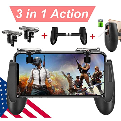 Mobile Game Controller [Upgrade Version] Mobile Gaming Trigger for PUBG/Fortnite/Rules