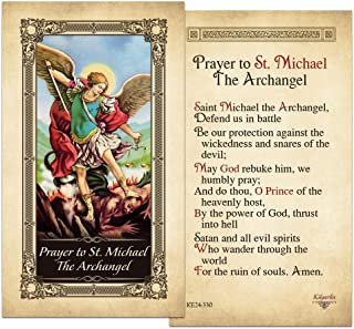 St.Michael the Archangel Laminated Prayer Card - Pack of 10
