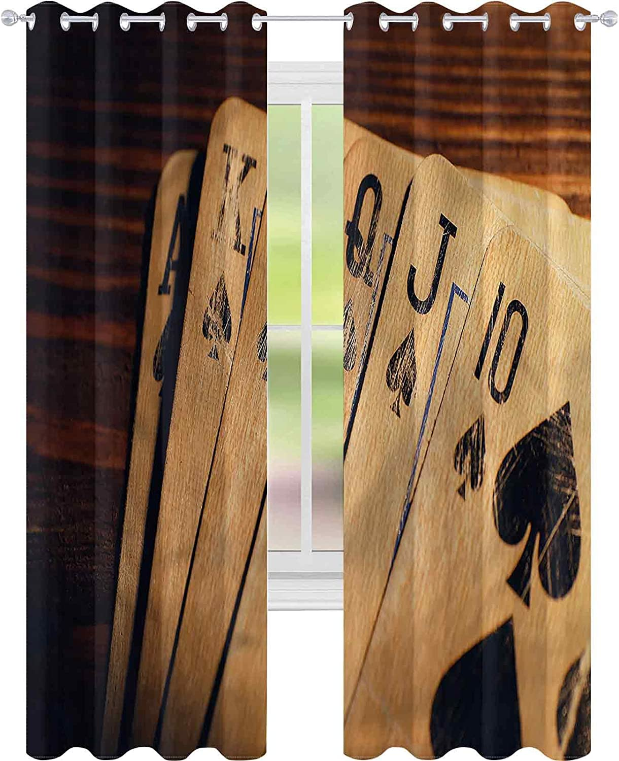 Window Curtain Drape Poker Tournament Cards W52 Elegant Table L72 on a Weekly update x