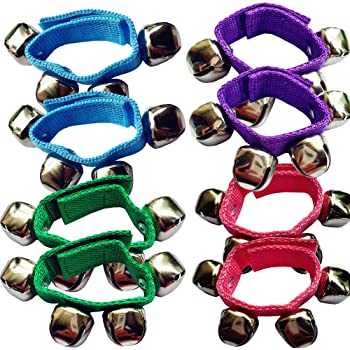 For Kid and Adult Assorted Color Aspire 12Pcs Rhythm Band Wrist Shaking Bells