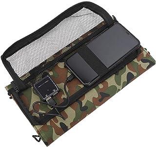 Suchinm 21W 5V Portable Solar Panel Dual USB Port Portable Flexible Folding Waterproof Solar Panel for Mobile Phone Charging