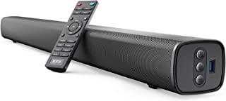 RIF6 Sound Bar - 35 Inch Home Theater TV Soundbar with LED Display, Dual Built-in Subwoofers and 4 Equalizer Settings - Connects to Bluetooth, HDMI, AUX, RCA and USB