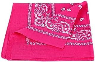 PURECITY© Bandana Original Paisley Pure Coton Foulard Qualité Supérieure - Dimensions 52 cm x 52 cm - Nouvelle collection