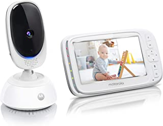 """Motorola Comfort 75 Video Baby and Home Monitor, 5"""" LCD Color Screen Display with Remote Pan Scan, Two-Way Communication, ..."""