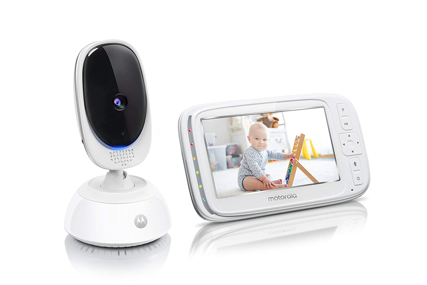 Motorola Comfort75 Video Baby Monitor - Infant Wireless Camera with Remote Pan, Digital Zoom, Temperature Sensor - 5 Inch LCD Color Screen Display with Two-Way Intercom, Night Vision - 1000ft Range
