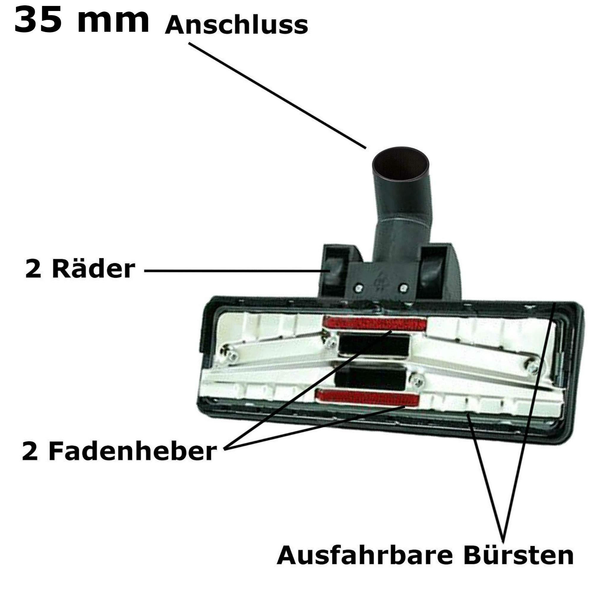 Maxorado - Boquilla para aspiradora de 35 mm, 2 boquillas para Bosch Siemens AEG Quigg Kärcher Fakir EIO Samsung Panasonic Clatronic Einhell Dirt Devil: Amazon.es: Hogar