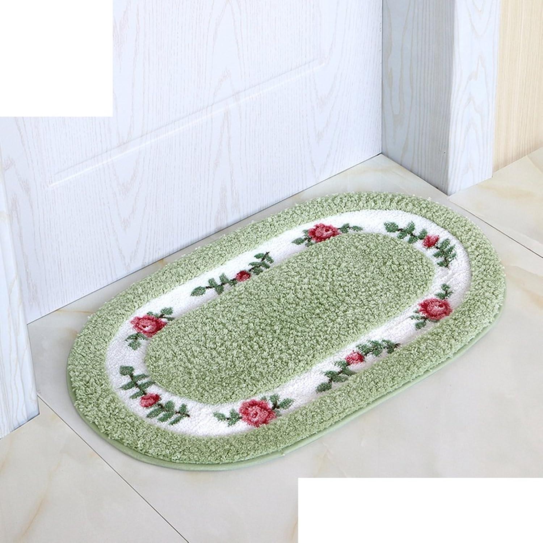 Bedroom,Kitchen,Hall,Floor Mat Indoor Mat The Bathroom Door Anti-Skid Mats Toilet Water-Absorbing Mats-L 45x75cm(18x30inch)