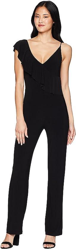 Asymmetric Ruffled Cami Jumpsuit