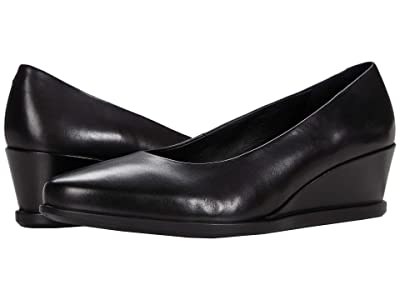 ECCO Shape 45 Wedge Pump (Black Material) Women