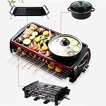 Draagbare elektrische kookmachine voor thuisgebrui Smokeless Teppanyaki Barbecue 1800W Multi-Function Electric Grills bakb...