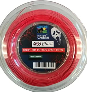 Weiss Cannon Red Ghost Tennis String - 18G/1.18mm (neon red) - 660ft - 200m Reel