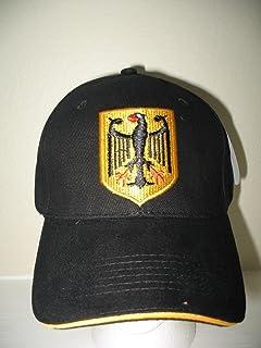 Germany German Eagle Deutschland Black Embroidered Baseball Hat Ball Cap