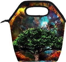 Przenośna torba na lunch box o dużej pojemności, do pracy w biurze, w szkole, na pikniku, na piknik, zielone drzewo