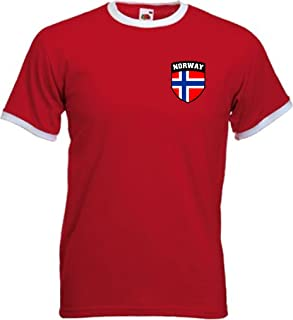 Sports Crazy Unisex Norway Norge Norwegian Soccer Shield Crest T-Shirt