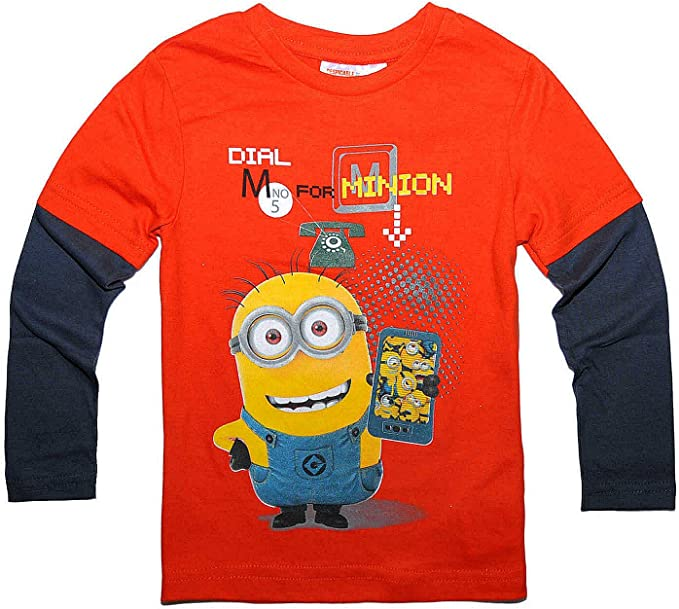 Maglietta a maniche lunghe con licenza ufficiale Cattivissimo ME 2 Dave Minions