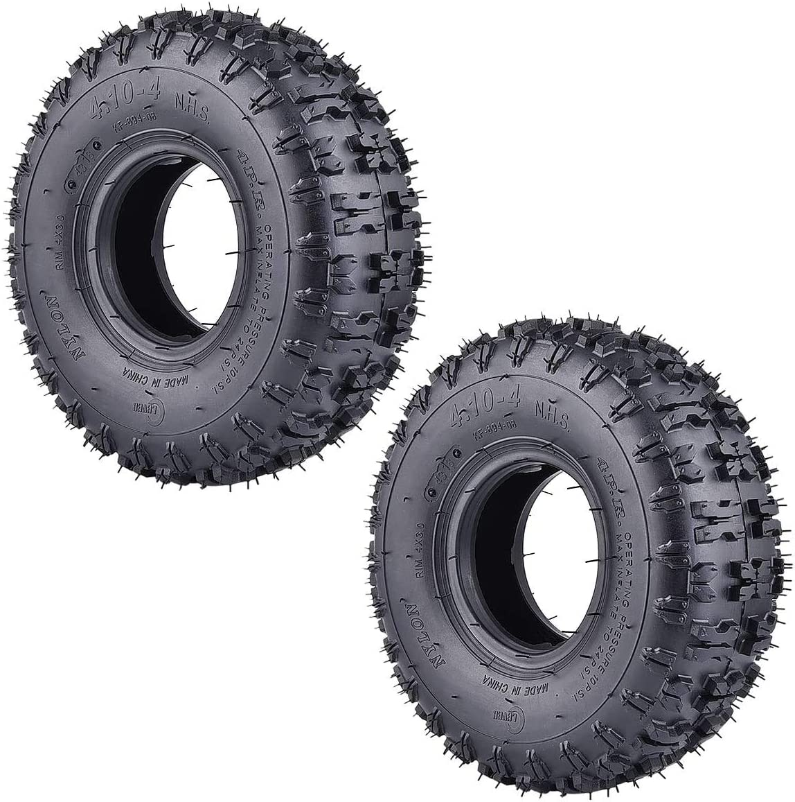Yootree 2 Pack of 4.10-4 410-4 Roto Cheap mail order Tulsa Mall shopping for Garden 4.10 3.50-4 Tires