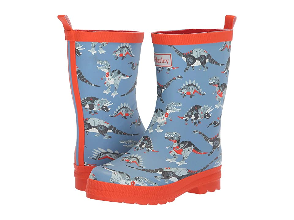 Hatley Kids Limited Edition Rain Boots (Toddler/Little Kid) (Robotic Dinos Navy/Red) Boys Shoes
