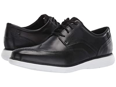 Rockport Garett Wing Tip (Black/White) Men